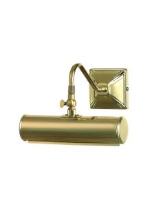 PL1/10 PB Small Traditional Picture Light in Polished Brass