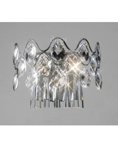 Diyas IL31060 Kenzie Crystal Wall Light in Polished Chrome Finish