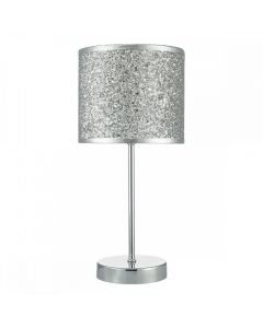 BIS4132 Bistro Table Lamp In Silver Glitter