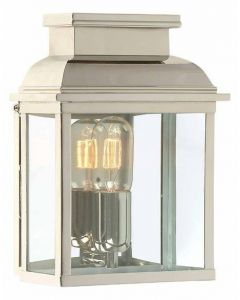 Old Bailey Solid Brass Outdoor Lantern, Polished Nickel