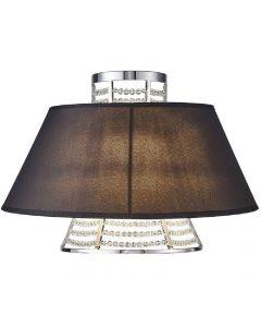 Diyas IL30054/BL Davina 2 Light Wall Light In Polished Chrome With Black Shade
