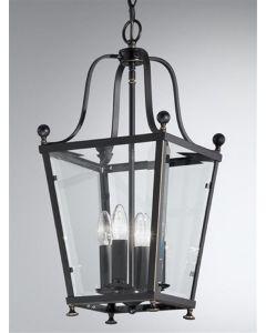 L7004/4 Everett 4 Light Antique Bronze Hanging Lantern