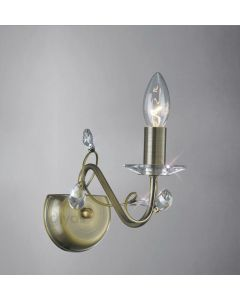 Diyas IL31221 Willow Single Wall Light in Antique Brass Finish