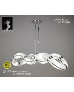 M8644 Guss Low Energy 8 Light Semi-Flush Ceiling Pendant