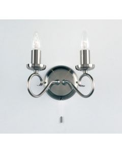 Endon 180-2AS 2 Light Wall Light In Antique Silver