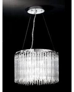 F2094/9 9 Light Glass Rod Ceiling Pendant