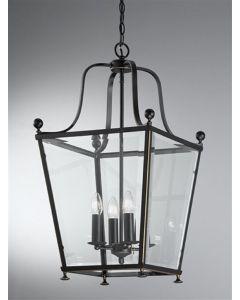 L7005/4 Everett 4 Light Bronze Square Ceiling Lantern