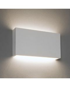 Astro 1325009 Rio Two Light LED Horizontal Wall Light In White Plaster With Phased Dimmer - W: 325mm