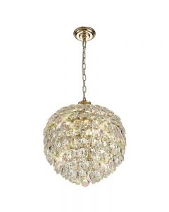 Diyas IL32804 Coniston 6 Light Ceiling Pendant In French Gold