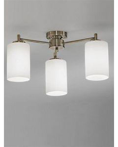 F2253/3 Bronze 3 Light Semi-Flush Ceiling Light