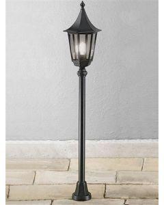L1607-1 Boardwalk Black Traditional Exterior Lamp Post