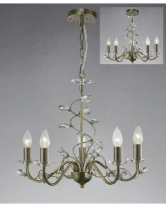 Diyas IL31225 Willow Ceiling Pendant Light in Antique Brass