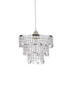 Dar CYB6550 Cybil Non Electric Faceted Crystal & Polished Chrome Shade