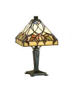 Interiors 1900 63898 Alcea Tiffany Mini Table Lamp With Shade: Height - 300mm