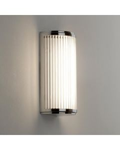 Astro 1380001 Versailles Wall Light With Clear Glass Rod Shade In Polished Chrome - height 250mm
