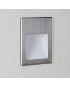 Astro 1212032 Borgo One Light LED Recessed Wall Light In Brushed Stainless Steel, 2700K - H: 70mm