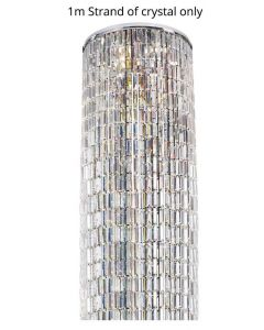 Diyas IL30077 Torre 7 Light Plate Ceiling Light In Polished Chrome