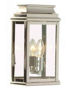 St Martins Solid Brass Outdoor Lantern, Polished Nickel