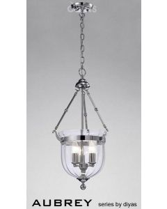 IL31072 Aubrey 3 Light Polished Chrome Ceiling Pendant