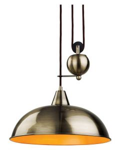 Firstlight 2309AB Century Rise and Fall Ceiling Light in Antique Brass