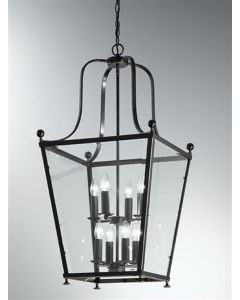 L7005/8 Everett 8 Light Bronze Square Ceiling Lantern