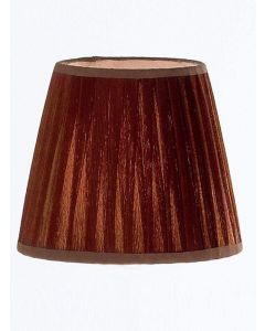 Large Coffee Pleat Fabric Shade