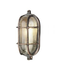 David Hunt Lighting ADM5264 Admiral 1 Light Small Oval Wall Light In Antique Copper