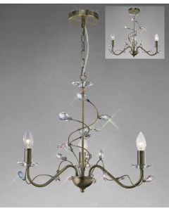 Diyas IL31223 Willow Ceiling Pendant Light in Antique Brass