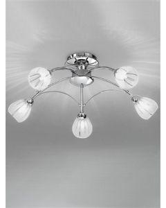 F2206/5 Flush Ceiling Light In Chrome