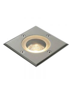 Saxby GH88042V Pillar Outdoor Square Ground Recessed Light in Polished Stainless Steel
