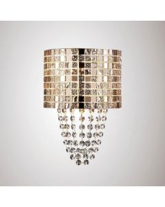 Diyas IL31621 Camden 2 Light Wall Light in Rose Gold
