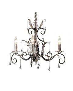 Elstead AML3 Black/Silver Amarilli 3 light ceiling pendant