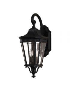 FE/COTSLN2/M BK Cotswold Lane 2 Light Medium Wall Lantern Light In Black