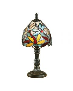 Interiors 1900 64246 Lorette Tiffany Mini Table Lamp With Shade: Height - 320mm