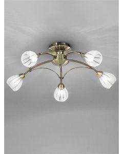 F2207/5 Flush Ceiling Light In Bronze