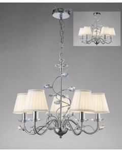 Diyas IL31215 + ILS31218 Willow Ceiling Pendant Light with Shades