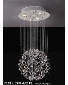 IL30780 Colorado 4 Light Crystal Ceiling Pendant