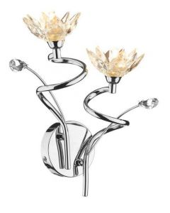 Dar POP0950 Poppy Two Light Wall Fitting In Chrome