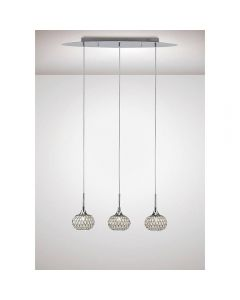 Diyas IL31504 Chelsie 3 Light Linear Pendant In Polished Chrome