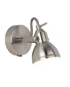 Searchlight 1541SS Focus One Light Wall Spotlight In Satin Silver