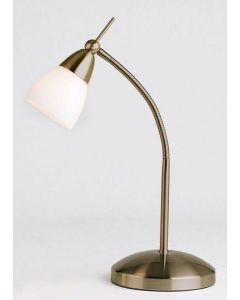 Endon 652-TLAN Touch Lamp In Antique Brass