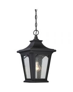 QZ/BEDFORD8/S Bedford 1 Light Small Chain Lantern Ceiling Light In Mystic Black