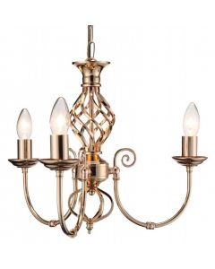 3 Light Classic Knot Twist Ceiling Light in French Gold