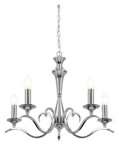Endon KORA-5CH Traditional 5 Light Chandelier With Chrome Finish