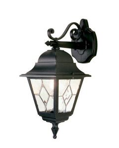 Elstead NR2 Norfolk traditional, black outside wall light, IP44
