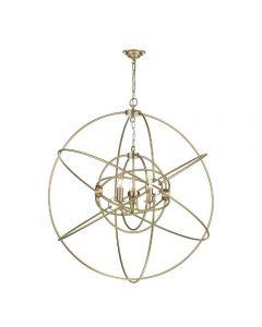 David Hunt Lighting ORB8840 Orb 3 Light Ceiling Pendant In Butter Brass - Dia: 900mm