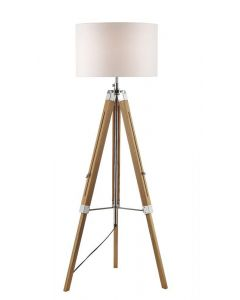 Dar EAS4943 + PYR182 Easel Wooden Tripod Floor Lamp with Shade