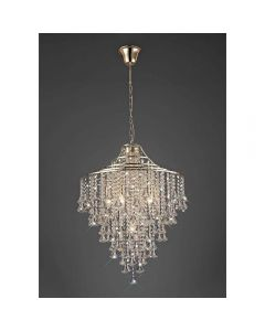 Diyas IL32772 Inina 7 Light Ceiling Pendant In French Gold