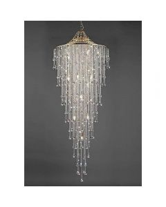 Diyas IL32776 Inina 15 Light Tall Ceiling Light In French Gold