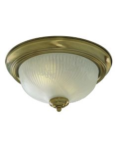 Searchlight 7622-11AB Flush fitting with Antique Brass Trim